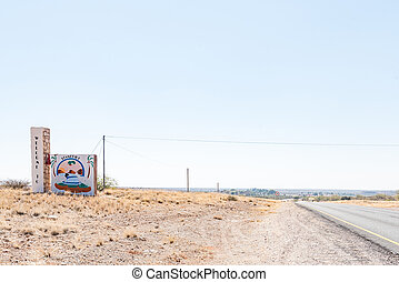 Entrance to Stampriet in the Hardap Region in Namibia