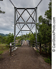 Entrance to Suspension Bridge in Yellowstone