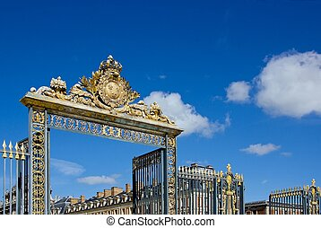 entrance to the castle Versailles