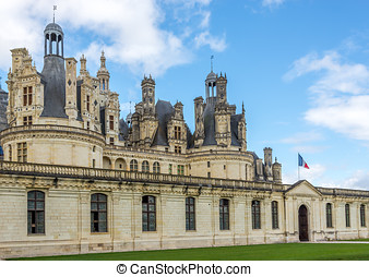 Entrance to the chateau Chambord