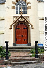 Entrance to the church in Warfum. Netherlands