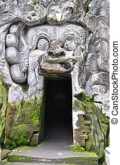 "Goa Gajah - Entrance to the ""Elephant Cave"" Goa Gajah at ..."