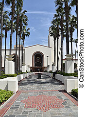 Entrance to the historic Union Station in Los Angeles