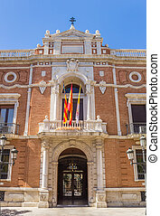 Entrance to the home of the Archbishop in the historic center of Valencia