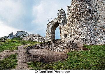 Entrance to the Hrusov ruins