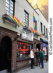 Stonewall bar - Entrance to the legendary Stonewall bar in ...