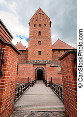 Entrance to the old brick castle in Trakai