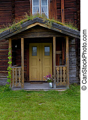 Entrance to the old wooden house