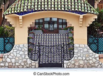 Entrance to the Spanish villa