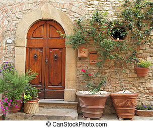 entrance to the tuscan home