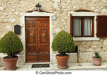 entrance to the tuscan house