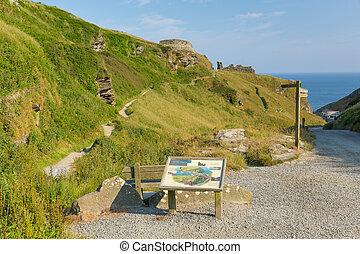 Entrance to Tintagel Castle Cornwal