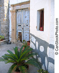 Entrance to traditional greek house