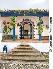 Entrance way of an old hacienda, Ibarra, Ecuador