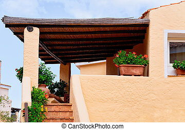 Entrance with staircase of residential house in Porto Cervo