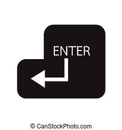 entrar, diseño, llave, ilustración, icono