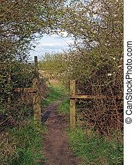 entrata,  brampton, legno, piccolo, est, lato