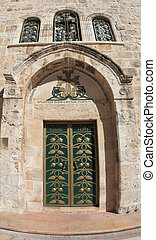 entrata, lato, sepolcro, santo, tempio