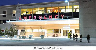 entrata, stanza, emergenza