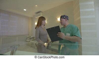 entre, réunion, docteur hôpital, patient, sien