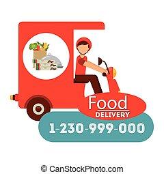entrega, alimento