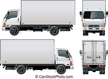 entrega, camión de carga, /