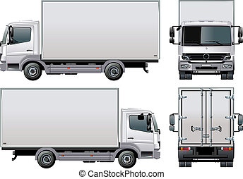 entrega, /, caminhão, carga