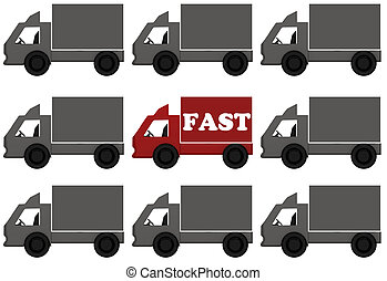 entrega, Camiones