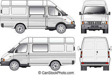 entrega, carga, furgoneta, /, pasajero