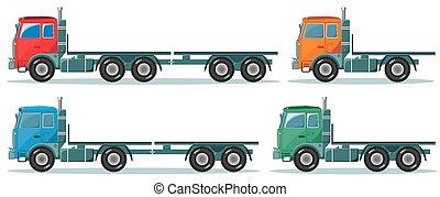 entrega, carga, vetorial, caminhão