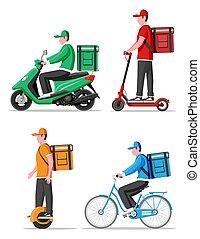 entrega, conveniente, cidade, ecológico, transporte