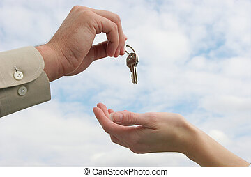 entrega, el, llave