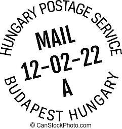 entrega, estampilla, budapest, correo, hungría