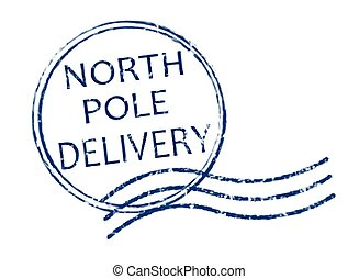 entrega, estampilla, poste, norte