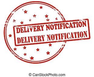 entrega, notificação