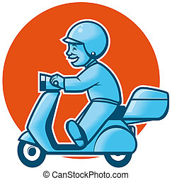 entrega, scooter
