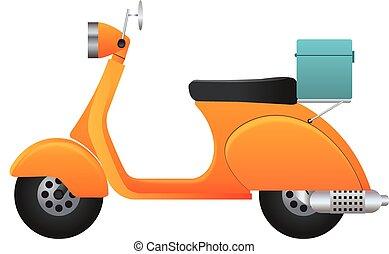 entrega, scooter, ilustração
