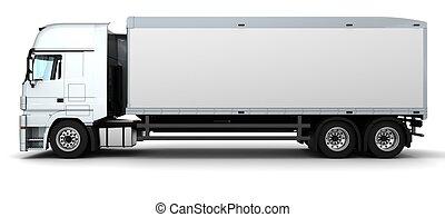 entrega, vehículo carga