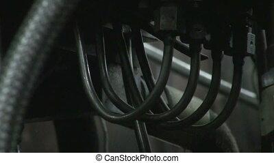 entrelacer, tubes, tuyau, lignes, coffre