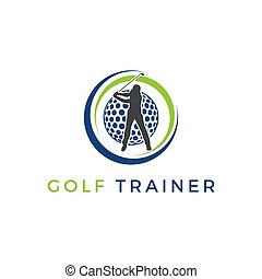 entrenador, golf, logotipo, inspirations, vector