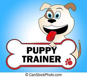 entrenador, perrito, entrenadores, entrenado