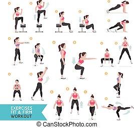 entrenamiento aerobio, mujer, condición física
