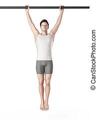 entrenamiento, ahorcadura, -, aumentos, pierna