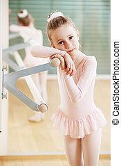 entrenamiento, ballet, niña
