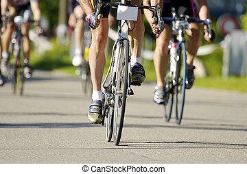 entrenamiento, bicicleta