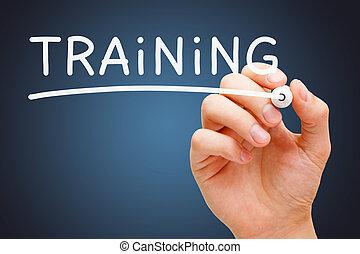 entrenamiento, blanco, marcador