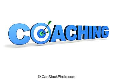 entrenamiento, concepto, blanco