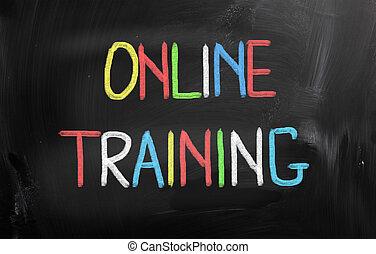 entrenamiento, concepto, en línea