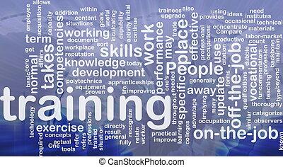 entrenamiento, concepto, plano de fondo