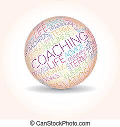 entrenamiento, concepto, relacionado, palabras